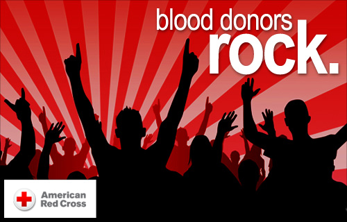 American Red Cross Blood Drive Donors Rock